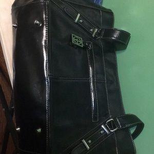 Giani Bernini Bags - Black Leather white stitching Bag